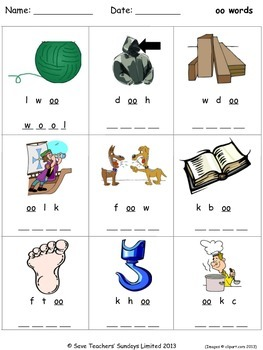 short oo phonics lesson plans, worksheets and other teachi