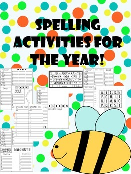 short vowel spelling word work activities and lists