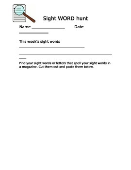 sight word hunt