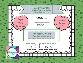 sight word sentences freebie