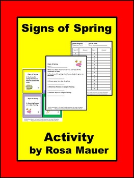 Signs of Spring Activity