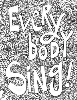 singing poster, everybody sing poster, vocal singing, musi