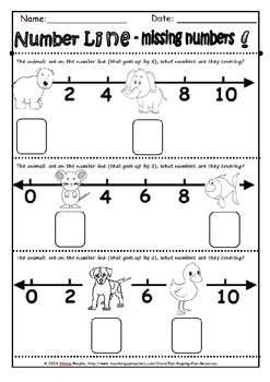 skip counting on the number line