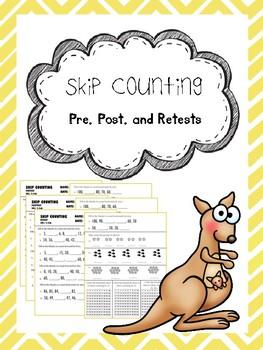skip counting pretest, posttest, and retest