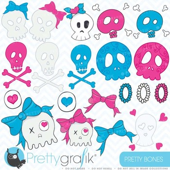 skull clipart commercial use, vector graphics, digital cli