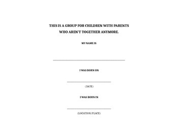 small counseling group for kids with DIVORCED parents
