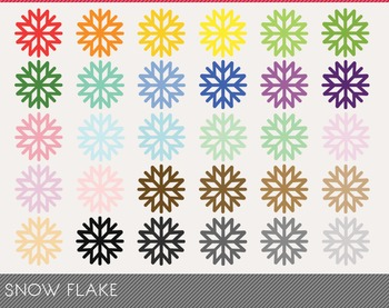 snow flake Digital Clipart, snow flake Graphics, snow flake PNG