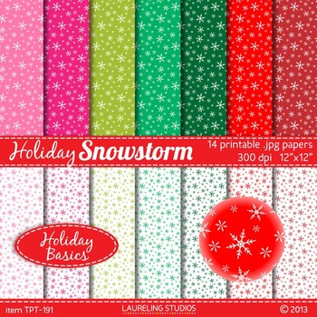 snowflake digital paper in pink, red and green; 14 .jpg fi
