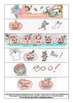 song cards for Autumn and Halloween