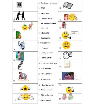 ~spanish 2 Beginning of year classroom and daily interacti