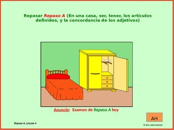 2nd year spanish asi se dice Repaso A, teacher lesson 4 on