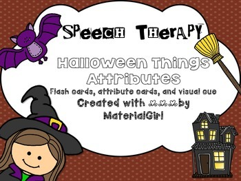 speech therapy Halloween Attributes activity 20 flashcards