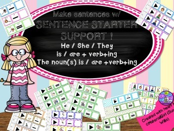 SPEECH THERAPY Sentence Starters Strips he she they is are