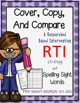 Spelling: Spelling sight words- Cover Copy Compare Method