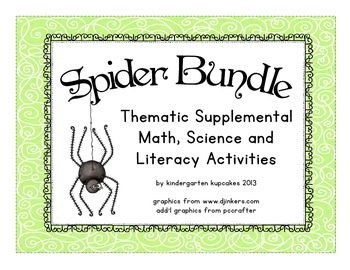 spider bundle: thematic math, science and literacy materials