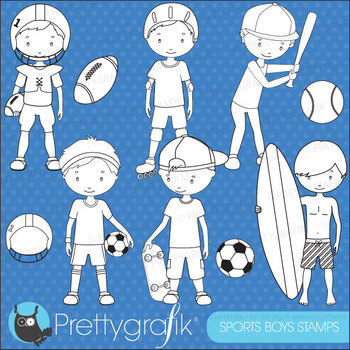 sports boys stamps commercial use, vector graphics, images