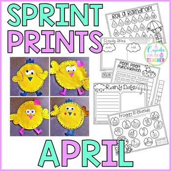 Sprint Prints! April {Printables & Craftivity}