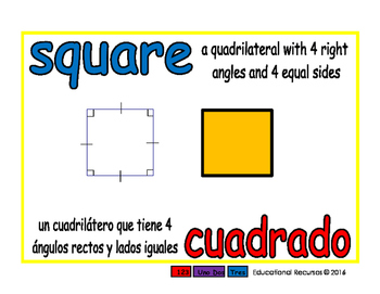 square/cuadrado geom 1-way blue/rojo