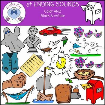 st Ending Sounds Clip Art