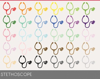 stethoscope Digital Clipart, stethoscope Graphics, stethos