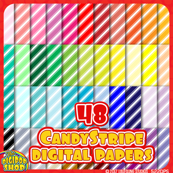 striped digital paper backgrounds in 48 colors - diagonal