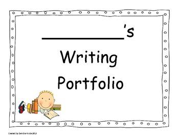 student writing portfolio