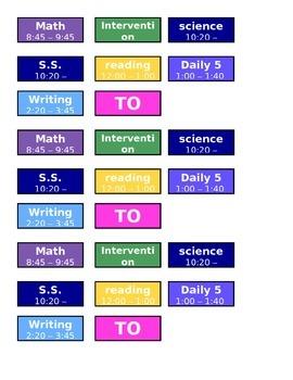 subject names and times for erin condren teacher planner