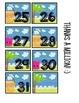 summer theme calendar cards