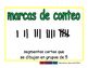 tally marks/marcas de conteo prim 2-way blue/verde
