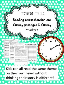 telling time fluency and comprehension leveled passages