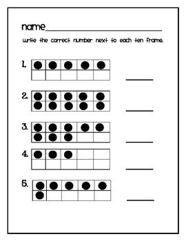 ten frame math for kindergarten {FREEBIE!} by Katie Moore ...