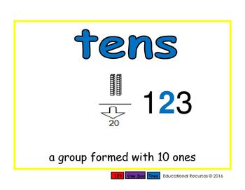 tens/decenas prim 2-way blue/rojo