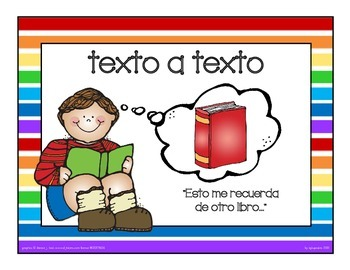 text connections mini posters in spanish