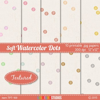 textured digital paper with look of painted watercolor con