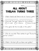 th Digraph No Prep Packet (Thelma Turns Three)
