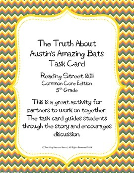 5th Grade Reading St. Task Card- The Truth About Austin's