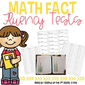 That's a Fact Jack: Addition and Subtraction Math Fluency Tests