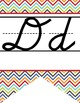 the BRAINY BUNCH - Alphabet Banner, handwriting, A to Z, D
