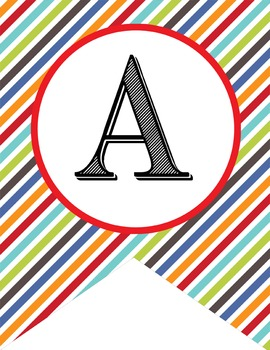the BRAINY BUNCH - Alphabet Flags, CREATE a BANNER, stripes