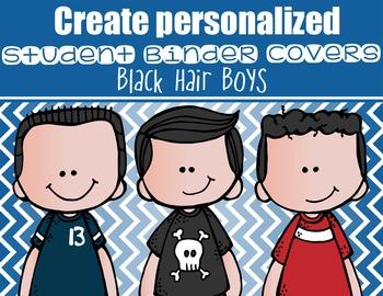 the BRAINY BUNCH - BOYS - Student Binder Covers - black ha