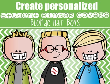 the BRAINY BUNCH - BOYS - Student Binder Covers - blonde h