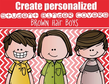 the BRAINY BUNCH - BOYS - Student Binder Covers - brown ha