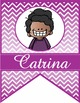 the BRAINY BUNCH - GIRLS - CLASSROOM Character BANNER - br