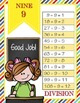 the BRAINY BUNCH - MATH Multiplication and Division Charts