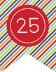 the BRAINY BUNCH - Number Line Banner, 1 to 25, EDITABLE t