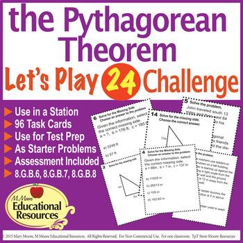 Pythagorean Theorem - 'Lets Play 24 Challenge' - 96 Multi-