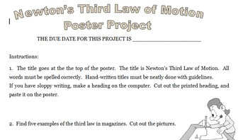 third law of motion poster project