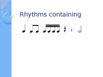 tikatika ta titi too & (rest) rhythm assessment with Rubric
