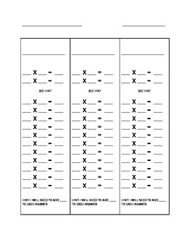 time table memory strips