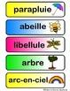 Étiquettes mots printemps